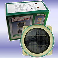 Solar powerd fan ventilator